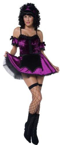Schürze Haushälterin (SMIFFY 'S Gothic Haushälterin mit Kleid, Schürze und Strumpfband)