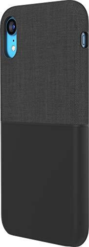 Incase Textured Snap Case Schutzhülle für Apple iPhone XR - schwarz [Stoff-Oberfläche I Fashion-Design I Stoßdämpfender Bumper I Qi kompatibel] - INPH200562-BLK Stoff-snap