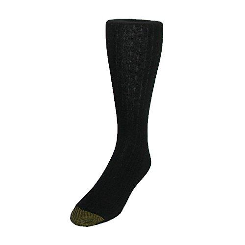 Gold Toe Herren Edinburgh Merino Wolle AquaFX Kleid Socken, Schuh Größe 6-121/2 Gr. One size, schwarz -