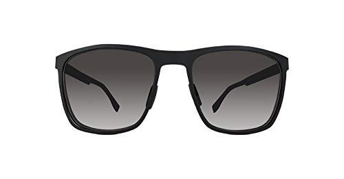 BOSS Hugo Herren 0732/S Y1 Sonnenbrille, Schwarz (Matte Black Carbon/Grey), 57