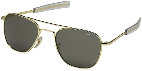 American Optical Original Pilot Bayonet 52 Gold TC Grey Sunglasses 30000