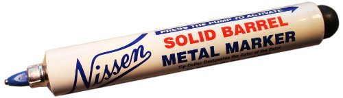 Nissen SBBUF Solid Barrel Metal Marker, 3/64 Tip, Blue (Pack of 12) by Nissen