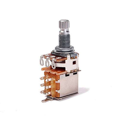 HEALLILY A500K Gitarrenpotentiometer Shaft Audio Taper Potentiometer Split Shaft Curved Pot Lautstärke- und Klangregler A500k Potentiometer
