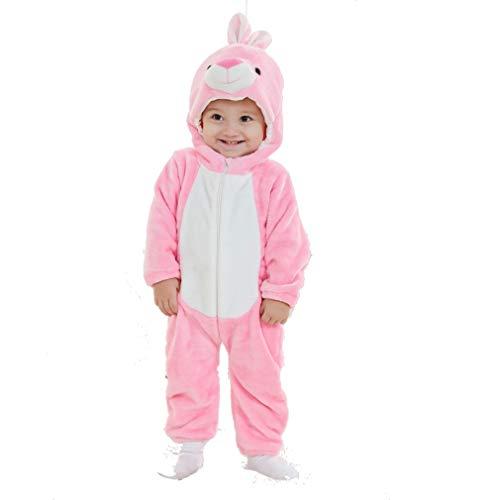 Baby Hasenkostüm Kostüm Overall Häschen Babykostüm Plüsch Strampler -