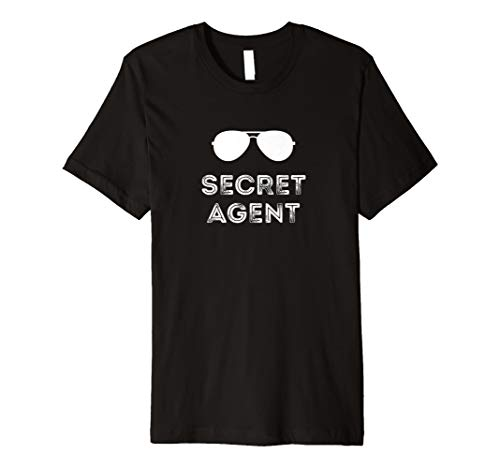 Secret Agent Halloween Funny Kostüm T-Shirts