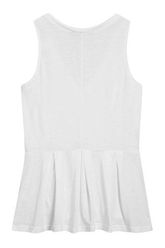 next Femme Petite Taille Haut En Tencel Blanc