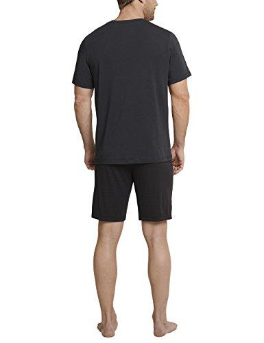 Schiesser Herren Zweiteiliger Schlafanzug Anzug Kurz Grau (Anthrazit 203)