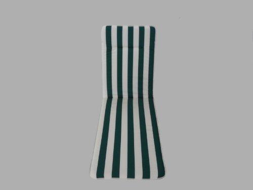 Maffei Art 541 coussin coton bain de soleil cm.190x57x3. Made in Italy. Dessin rayé blanc/vert