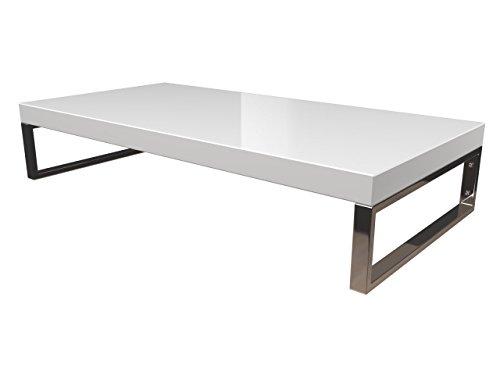 KeraBad Waschtischplatte Waschtischkonsole für Aufsatzwaschbecken und Waschschalen Holzplatte Badmöbel Tischplatte 60x45x5cm Weiss Hochglanz kb-wt50120weissg-10