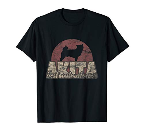 Akita-damen T-shirt (Akita Inu Tshirt Retro Stil)