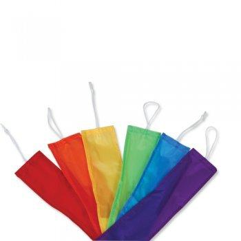 CIM Drachen Zubehör - Combo Tails Rainbow (6er Set) - für Familiendrachen und Großdrachen - Länge: 6 x 4,5m