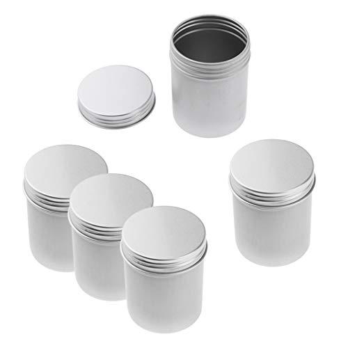 B Baosity 5pcs 80ml Pot Large Rond en Plastique Transparent avec Couvercle Cosmetic Container Rangement pour Crèmes Toilette Stockage Onguents Toners