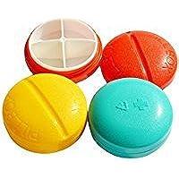 SHANF Tragbares Kompakt Rund Pille Box Organizer Pocket Größe für Reisen Tag und Nacht (zufällige Farbe) preisvergleich bei billige-tabletten.eu