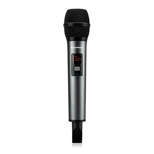Excelvan K18-V Bluetooth Micrófono Inalámbrico Portátil para Entretenimiento en el hogar, Conferencias, Concierto, Educación, Prensentación, KTV móvil al Aire Libre, Color Negro-Gris