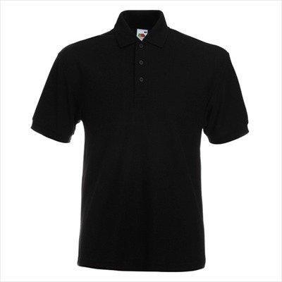 Fruit of the Loom - Heavy Piqué Poloshirt 'Heavyweight 65/35 Polo' XL,Black
