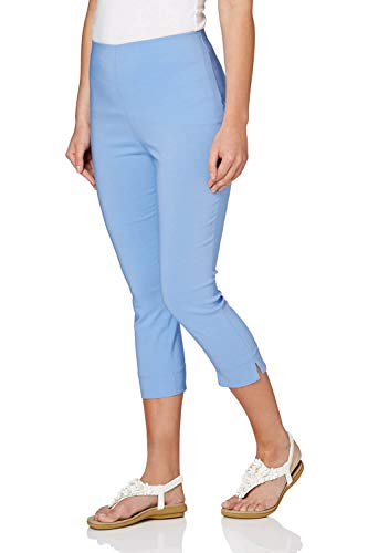 2a5ad5776fae Roman Originals Women Cropped Stretch Bengaline Trousers - Ladies Capri  Midi Pull On Summer Tapered Pants