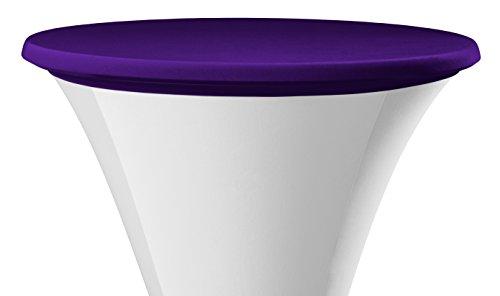 Dena 023337 Tischplatten Bezüge Samba, Durchmesser 70 cm, lila