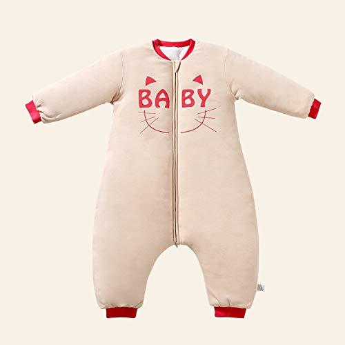 HUACANG HUACANG Babyfrühlingsherbstschlafsack Unisex Verdickte Anti-Kick-Steppdecke Warmer Schlafsack Mehrere Größen Geeignet Für Kinder (Farbe : Cat, Size : S)