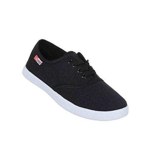 Damen Schuhe Freizeitschuhe Schnür Halbschuhe Schwarz
