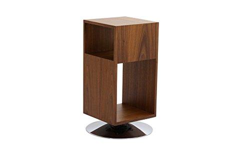 designement Wayne Table d'appoint Plaquage Noyer 32 x 32 x 68 cm