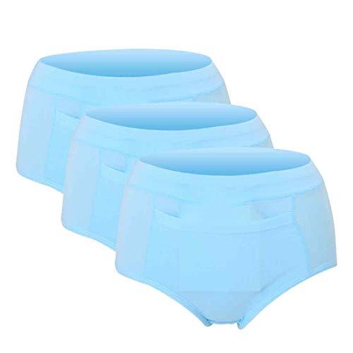 Inlefen Damen Menstruation Zyklus Höschen Elastisch Auslaufsicher Zeitraum Hipster 3 Stück Sanitär Hose -
