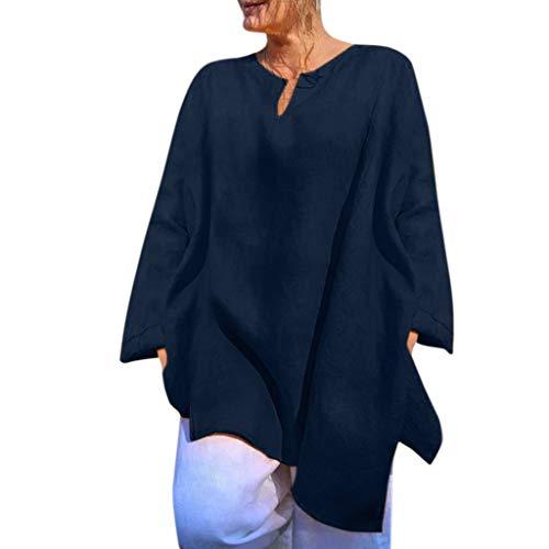 Herbst Kaschmir Tunika (OverDose Damen Damen Casual damen Stehkragen Langarm beiläufige lose Tunika Tops T Shirt Bluse Sommer Herbst Langarmshirt Freizeit Oberteile( Z-Grün,EU-48/CN-3XL))