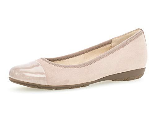 Gabor Damen Ballerinas 24.161.44, Frauen Flats,Sommerschuh,klassisch elegant,antikrosa,37 EU / 4 UK -
