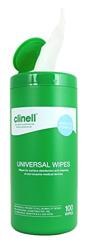 Clinell - Universal Sanitising Wipes 20x30cm Tub Refill (x100)