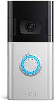 De nieuwe Ring Video Doorbell 4 van Amazon - HD-video met tweerichtingsspraak, previews via Pre-Roll in kleur,