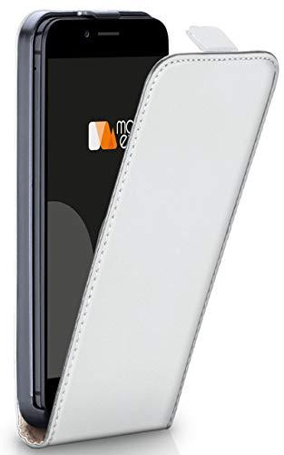 moex iPhone 6S | Hülle Weiß 360° Klapp-Hülle Etui Thin Handytasche Dünn Handyhülle für iPhone 6/6S Case Flip Cover Schutzhülle Kunst-Leder Tasche - Case 6 Vertikal Iphone Leder