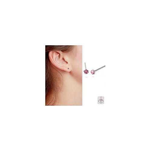 Clous d'oreille acier cristal Etoile 3mm griffé Crystal
