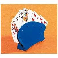 Soporte para Baraja de Cartas O Naipes, Pack 2 unidades, Curvado, Azul, Mobiclinic