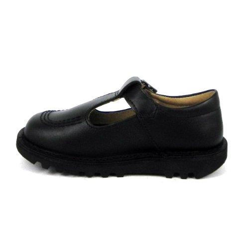 Kickers , Chaussures de ville à lacets pour fille Noir