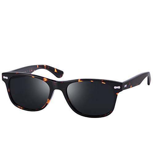 TSEBAN Retro Sonnenbrille Damen Polarisierte Outdoor Brille UV400 Schutz für Fahren Golf Angeln, Acetat Rahmen -