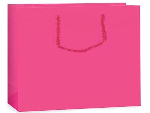 Hot Pink Matte Gift Bags Voguebulk 16X6X12 inch 100 pack