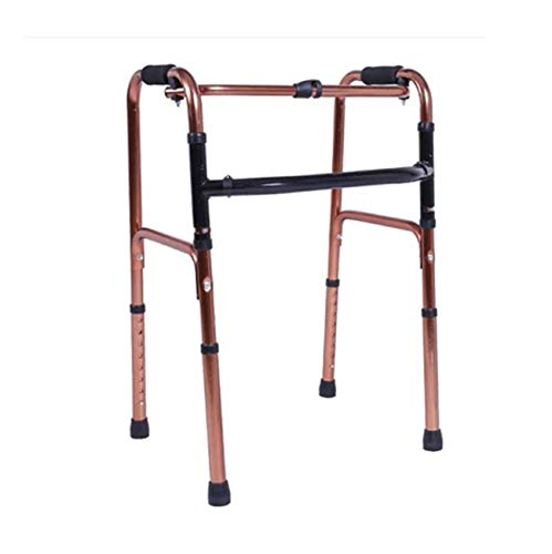 WZHWALKER Gehhilfe Für Ältere Menschen, Gehhilfe Aus Aluminiumlegierung, Klappbare Vier-Ecken-Gehhilfe