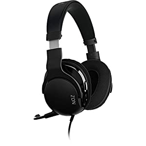 Roccat NOZ – Esports Gaming Headset (Stereo 3,5 mm Klinke, nur 210 g, Premium-Stoffbezug, Multiplattform Kopfhörer für PC/Mac/Playstation 4/Xbox One/Nintendo Switch) schwarz