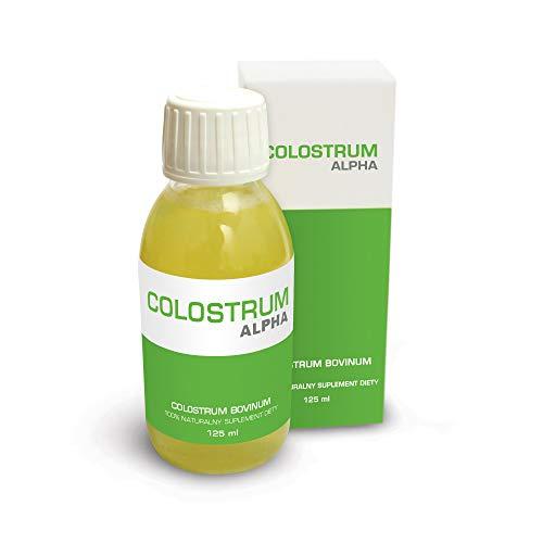 GENOSCOPE - Colostrum Bovinum ALPHA - 125 ml. Flüssige Form. Kaseinfrei und sterilisiert. Einfacher von Kindern und älteren Menschen zu bedienen.