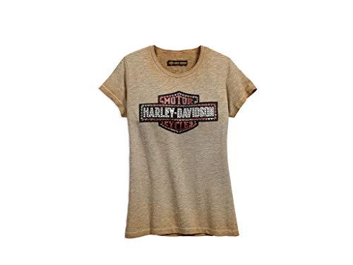 Harley-DavidsonStudded Logo Tee Damen T-Shirt, 99048-18VW, S-LADY - Womens Harley Davidson