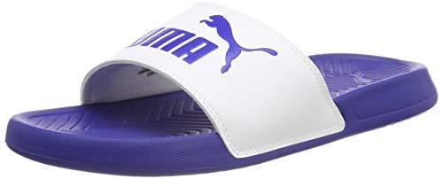 Puma popcat, scarpe da spiaggia e piscina unisex-adulto, bianco (white/surf the web), 46 eu