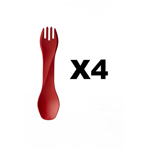 humangear-gobites-uno-utensil-fork-and-spoon-bpa-free-camping-tool-red-4-pack