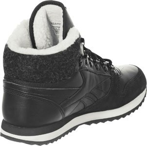 Reebok CL Leather Mid WW, Chaussures Montantes Noir