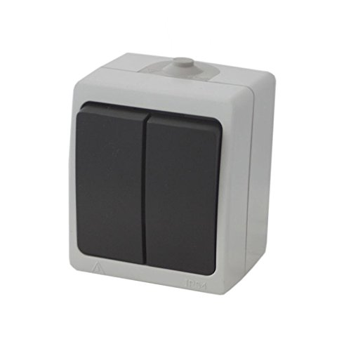 IP44 Doppel Feuchtraum Außenbereich Serienschalter Lichtschalter Stromschalter Schalter
