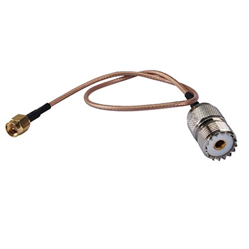 Demino 15cm Handantennenkabel SMA-Stecker auf UHF SO-239 Buchsenleisten Adapter Linie Cable Replacement 15cm