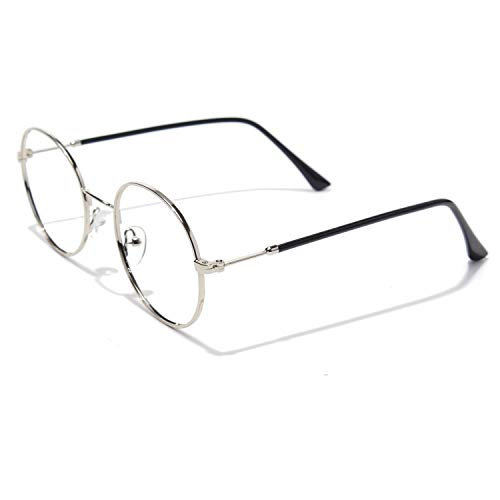 CGID Rundes Brillengestell Metallrahmen 2019 Neue Mode nicht verschreibungspflichtige Brille für Damen und Herren, 51,5 mm