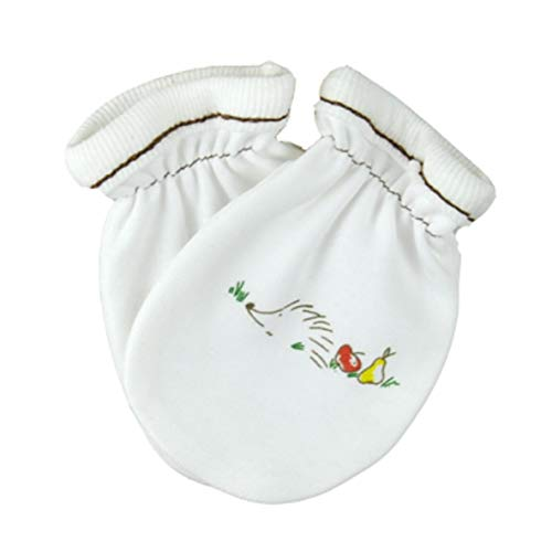 For Babies - Baby Kratzhandschuhe/Kratzfäustlinge aus 100{f0b85a5cd84e320d23830d8794e1ff189f30b9a12eaad2f3666cad745595890b} Bio-Baumwolle - Made in EU (Igel)