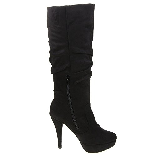 Damen Schuhe, G-24, STIEFEL Schwarz