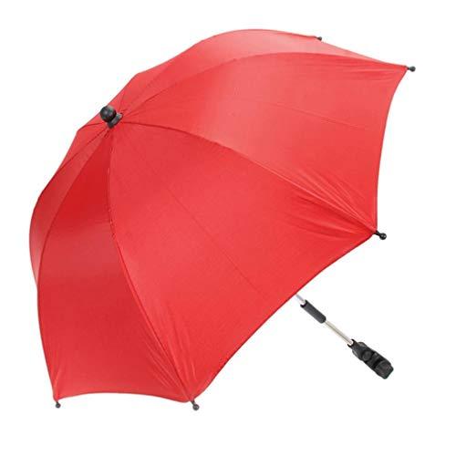 Igemy Regenschirm für Babywagen Kinderwagen Zubehör Baby Care (Rot)