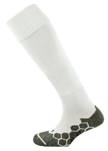 Mitre - Calzini da calcio unisex, da adulto, Bianco (bianco), Senior 7-12