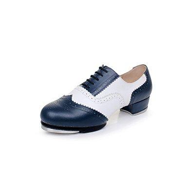 Silence @ Femme/Homme Chaussures de danse en cuir Cuir robinet talons Talon bas Practise/débutants/Professional/intérieur/performances Red